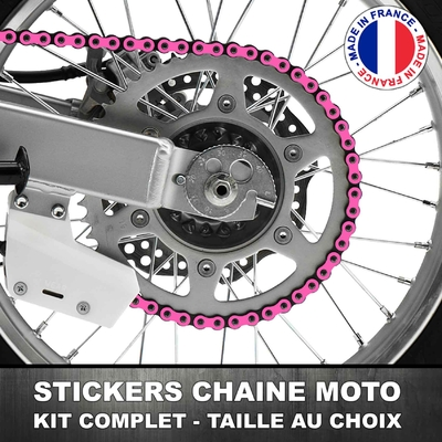Stickers Chaine Moto Rose