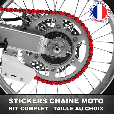 Stickers Chaine Moto Rouge