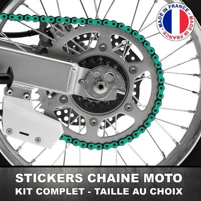 Stickers Chaine Moto Turquoise