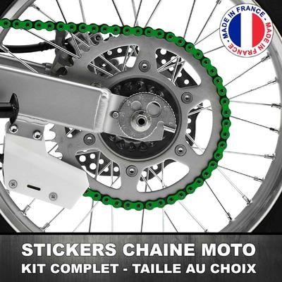 Stickers Chaine Moto Vert