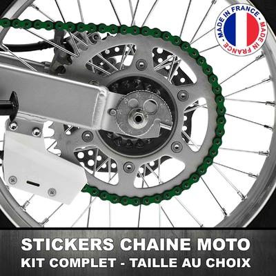 Stickers Chaine Moto Vert Foncé