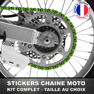 Stickers Chaine Moto Vert Kawaski