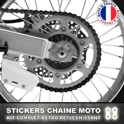 Stickers Chaine Noir Reflechissant