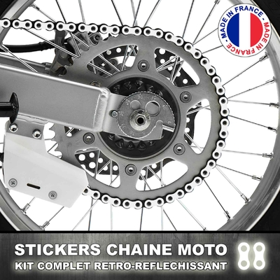 Stickers Chaine Blanc Reflechissant
