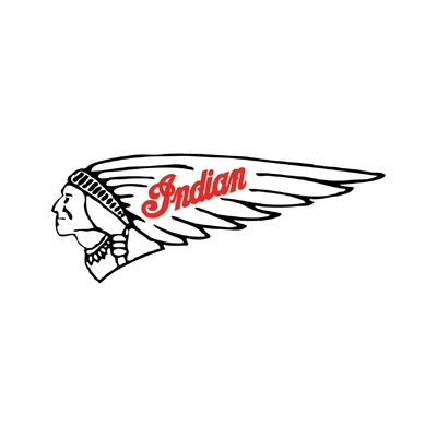 STICKERS INDIAN MOTORCYCLE COULEUR GAUCHE