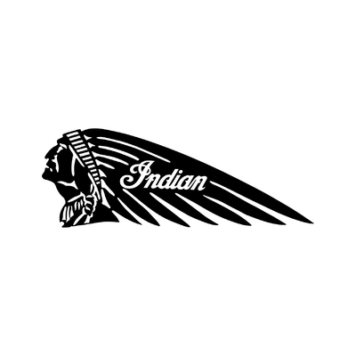STICKERS INDIAN MOTORCYCLE GAUCHE