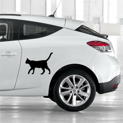STICKERS CHAT DECO VOITURE