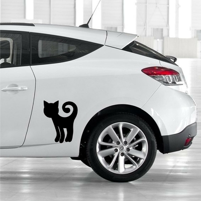 STICKERS CHAT DESSIN DECO VOITURE