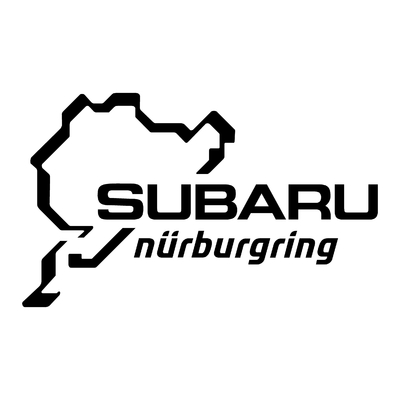 STICKERS NURBURGRING SUBARU
