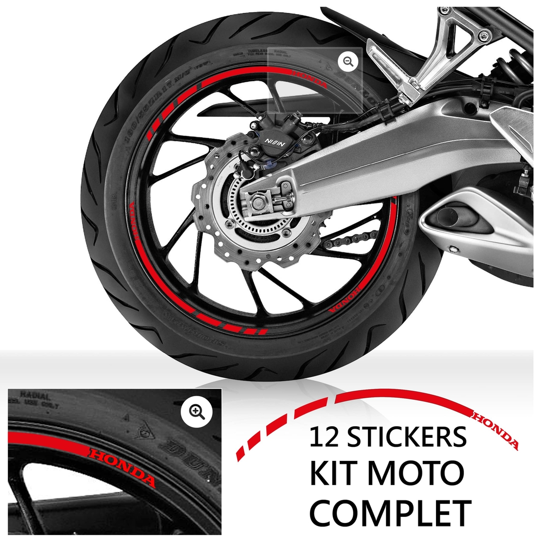 Kit liseret jante honda stickers moto for Deco jante moto