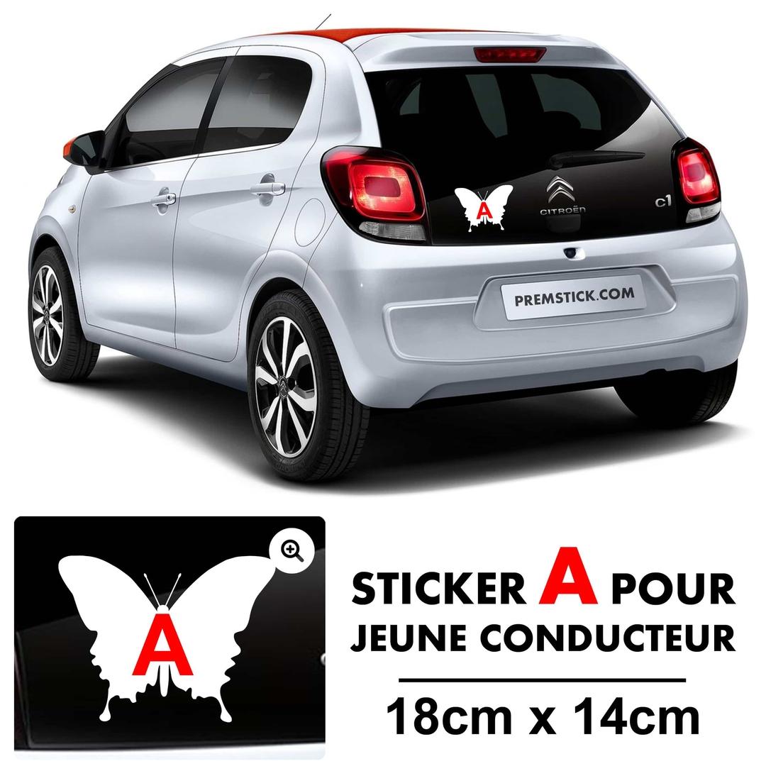 stickers a jeune conducteur papillon autocollant voiture. Black Bedroom Furniture Sets. Home Design Ideas