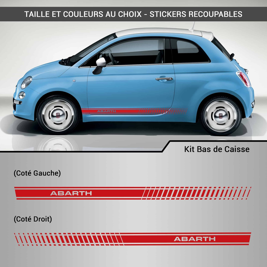 kit stickers bas de caisse abarth d co. Black Bedroom Furniture Sets. Home Design Ideas
