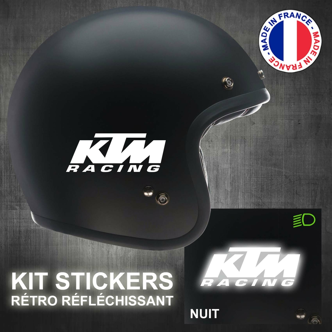 stickers ktm racing r tro r fl chissant casque moto. Black Bedroom Furniture Sets. Home Design Ideas