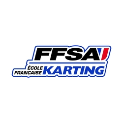 ref21 Stickers FFSA Ecole Francaise Karting Autocollant Sport Automobile