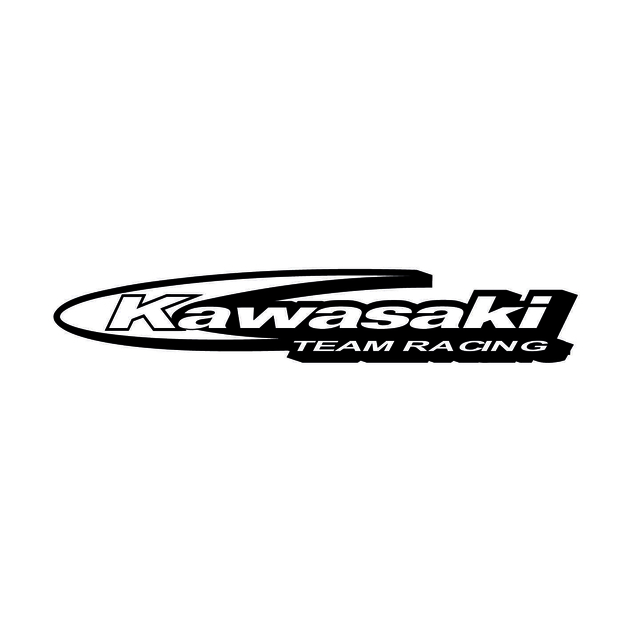 autocollant kawasaki team racing stickers moto. Black Bedroom Furniture Sets. Home Design Ideas
