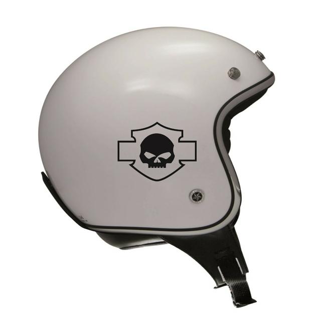 stickers harley davidson skull bls r tro r fl chissant casque. Black Bedroom Furniture Sets. Home Design Ideas