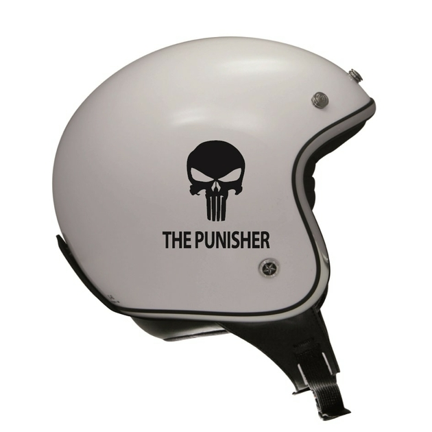 stickers the punisher r tro r fl chissant casque moto. Black Bedroom Furniture Sets. Home Design Ideas