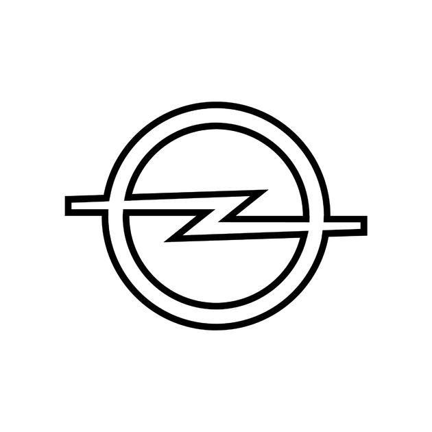 stickers opel logo contour autocollant voiture. Black Bedroom Furniture Sets. Home Design Ideas