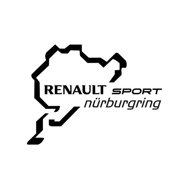 stickers renault sport nurburgring autocollant voiture. Black Bedroom Furniture Sets. Home Design Ideas