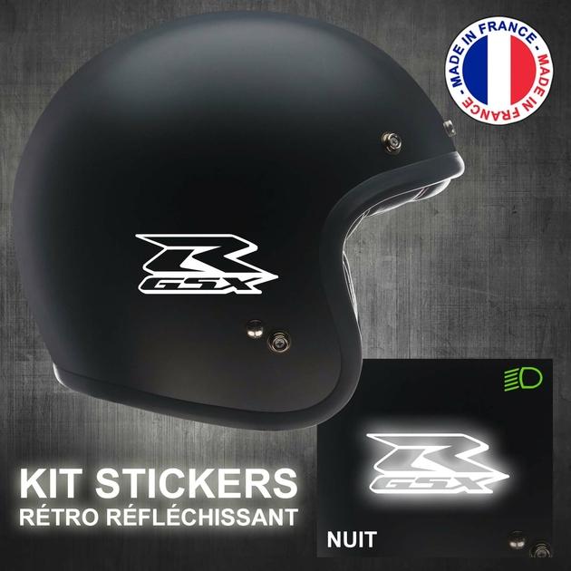 Stickers Gsx R Rétro Réfléchissant Casque Moto