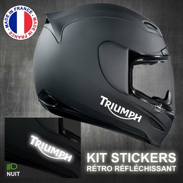Stickers Casque Moto Triumph Rétro Réfléchissant
