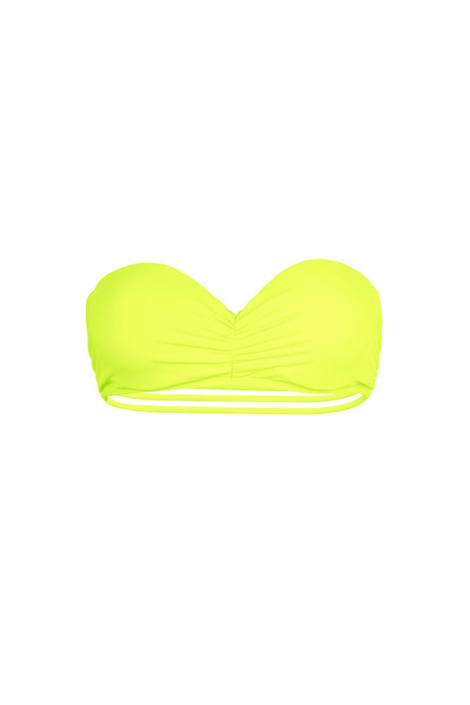maillot-de-bain-bandeau-push-up-sexy-jaune-fluo