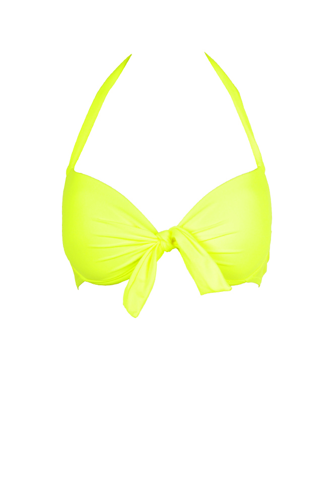 maillot-de-bain-push-up-deux-pieces-jaune-fluo