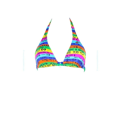 Banana Moon - Triangle swimsuit top neon multicolor Pisco Alegria