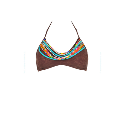 Triangle brassiere swimsuit top Yavapai brown