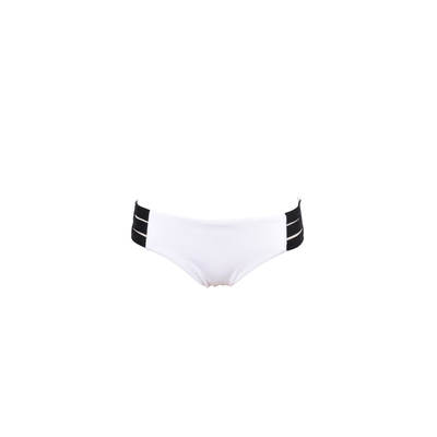 White swimsuit multi strap Block Party (Bottoms)