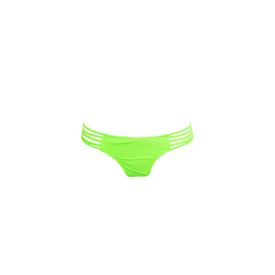 Mon Itsy Bikini Neon Green - Strappy Swimsuit (Bottoms)