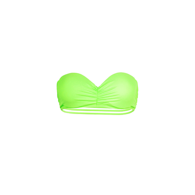 Mon Teenie Bikini Neon Green - Strapless Swimsuit Strappy Back (Top)