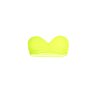 Mon Teenie Bikini Neon Yellow - Strapless Swimsuit Strappy Back (Top)