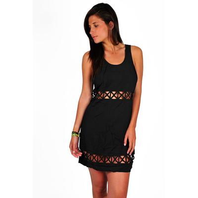 Black beach dress Empire