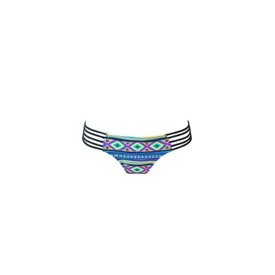 Mon Itsy Bikini Ethnic - Strappy Multicolor Swimsuit (Bottoms)