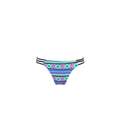 Mon Mini Itsy Bikini Ethnic - Strappy Tanga Swimsuit Multicolor (Bottoms)