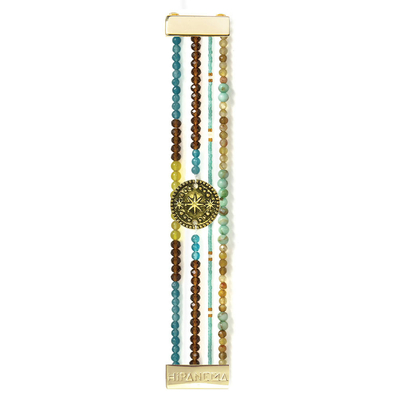 Blue and brown Hipanema beaded jewel Mini Star
