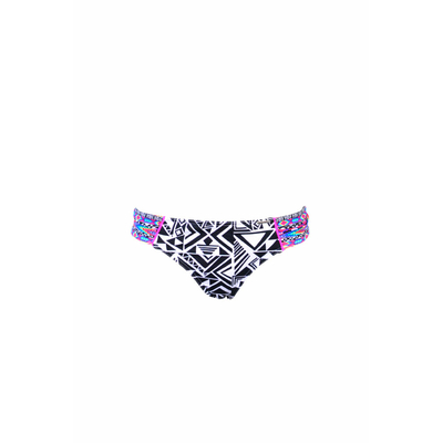 Swimsuit bottom Halyco black ethnic print (Bottoms)