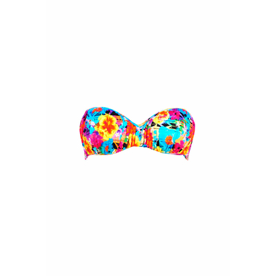 Strapless swimsuit multicolored flower print Mooney (Top)