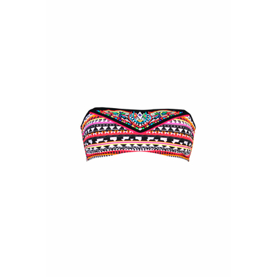 Strapless swimsuit red multicolor Tamatoa (Top)
