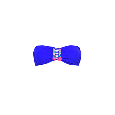 Strapless swimsuit Totem royal blue (Top)