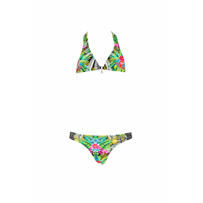 Two piece swimsuit green Tropical Kids