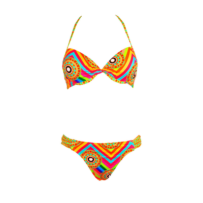 Two-piece swimsuit Push-up multicolor print Mandala