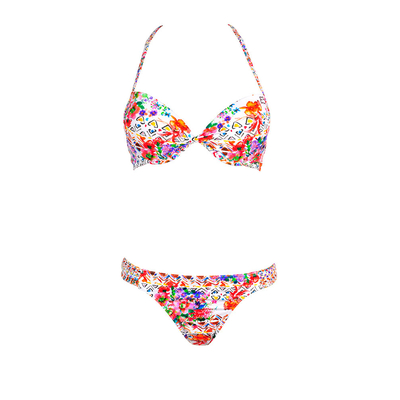 Two-piece push-up swimsuit Nosybe multicolor flower print