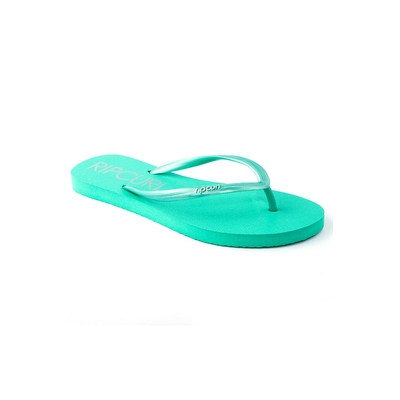 Woman green flip-flops Bondi