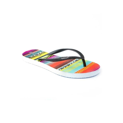 Woman multicolored flip-flops Pixels Girls