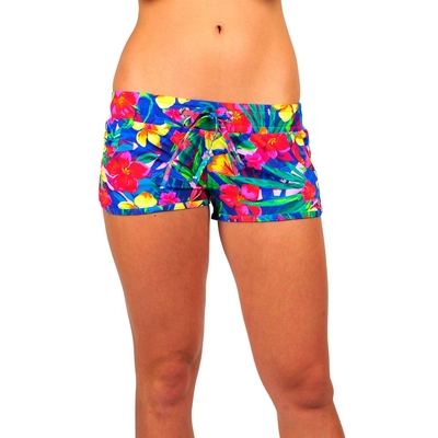 Beach shorts multicolor flower print Runlimoni Banana Moon teens (Bottoms)