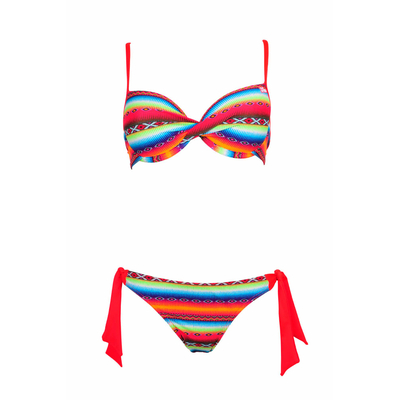 Balconnette two-piece swimsuit C cup Acapulco neon orange