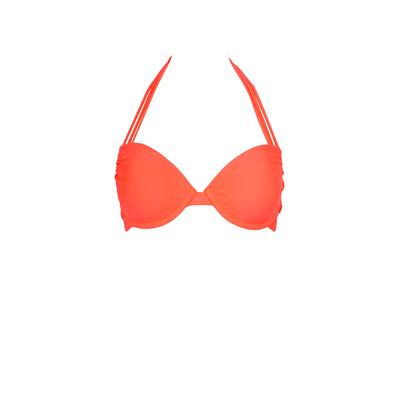 Mon Secret Push-Up Neon Coral - Balconnette Swimsuit (Top)