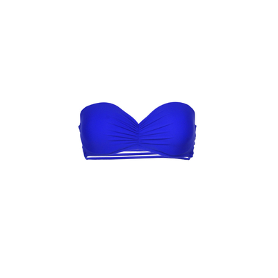 Mon Teenie Bikini Royal Blue - Strapless Swimsuit Strappy Back (Top)